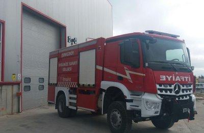 Çerkezköy Organize Sanayi Bölgesi Çok Maksatlı İtfaiye Aracı Teslimatı Yapıldı