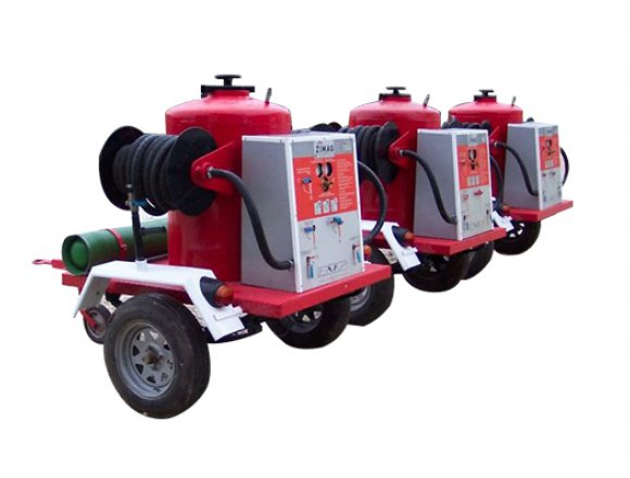 250kg capacity dry chemical powder trailer