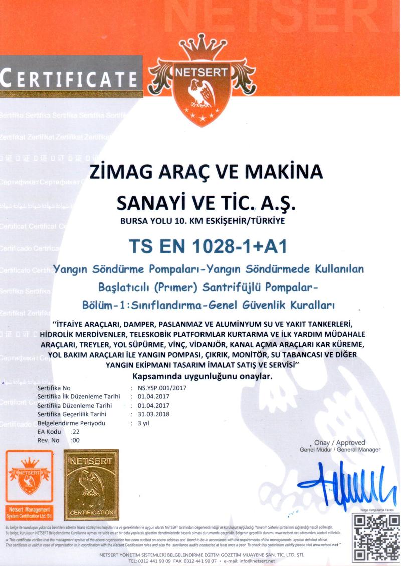 TS EN 1028-1+A1